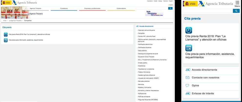 pedir cita hacienda por internet paso 2