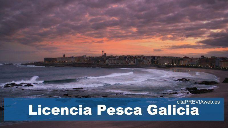 cita licencia pesca Galicia