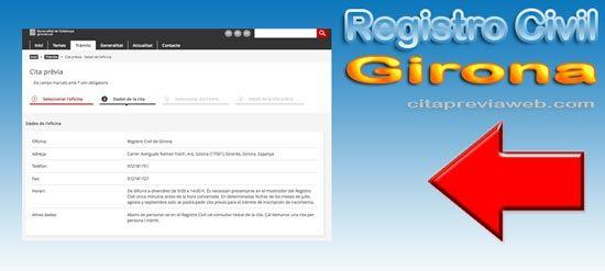 Cita Registre Civil de Girona